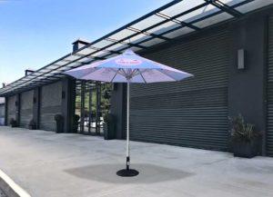 custom branded cafe umbrella