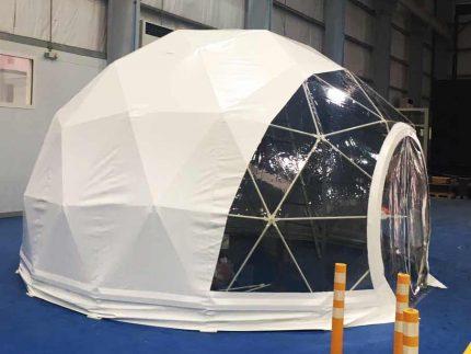 6.5 Metre white Dome Marquee