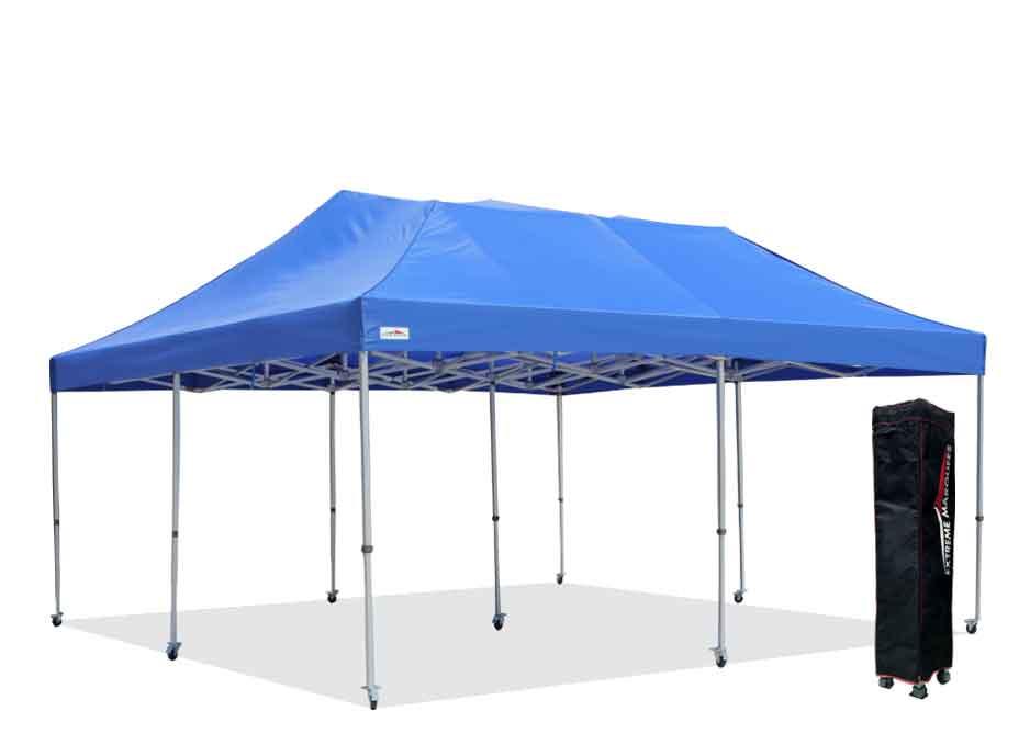 plain blue x7 6x6m event gazebo